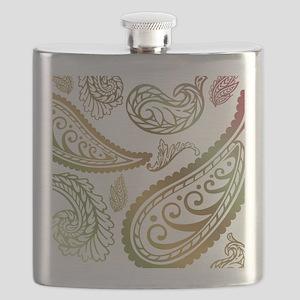 oliveburgundypaisleyqueen Flask