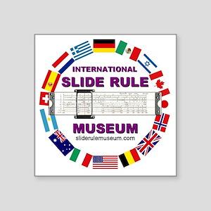 """ISRM logo w/url Square Sticker 3"""" x 3"""""""