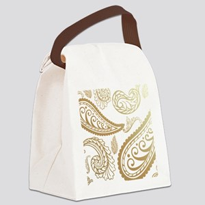 taupepaisleyqueen Canvas Lunch Bag