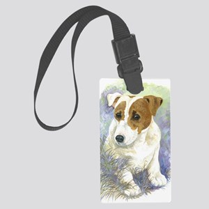 Jack Russell Terrier - Paula Coo Large Luggage Tag