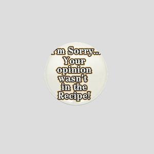 Funny recipe apron or shirt for the ki Mini Button
