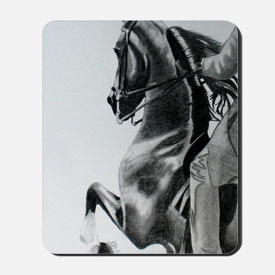 American Saddlebred pencil drawing Mousepad