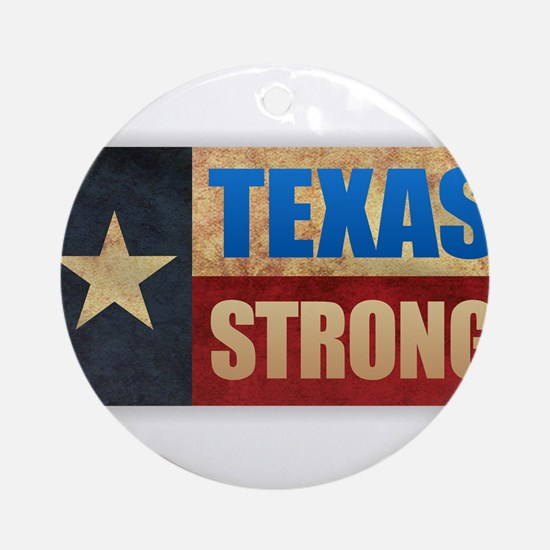 Texas Strong Round Ornament