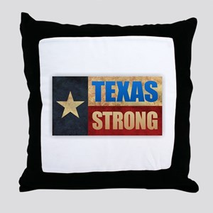 Texas Strong Throw Pillow