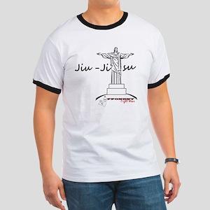 Jiu Jitsu Arms Wide open Ringer T
