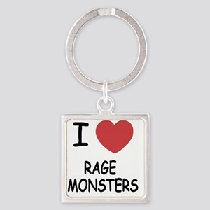 I heart Rage Monsters Square Keychain