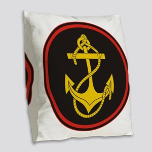 Russian Naval Infantry (Marine Burlap Throw Pillow