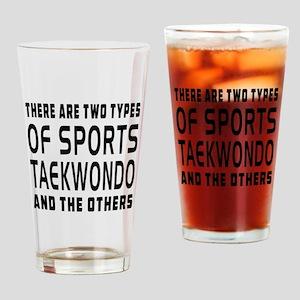 Taekwondo Designs Drinking Glass