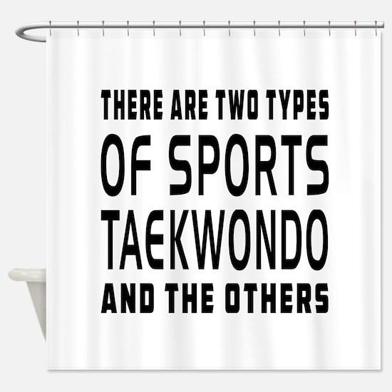 Taekwondo Designs Shower Curtain