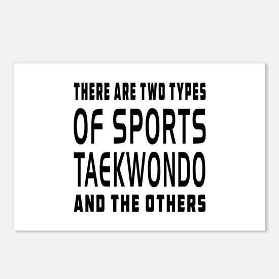 Taekwondo Designs Postcards (Package of 8)