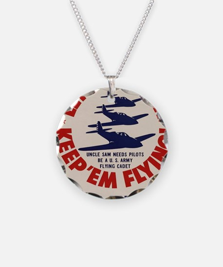 Lets go! U.S.A. Keep em flyi Necklace