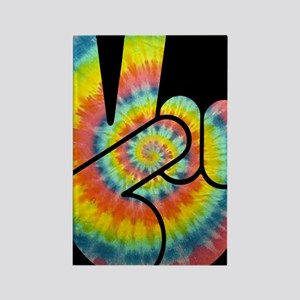tie-dye-peace-hand-OV Rectangle Magnet