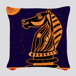 Tiger Knight Woven Throw Pillow