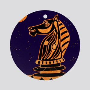 Tiger Knight Round Ornament