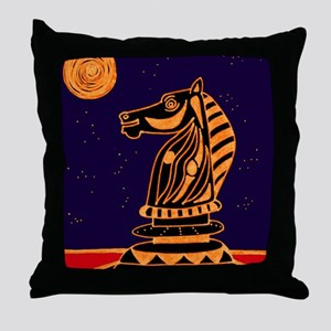 Tiger Knight Throw Pillow
