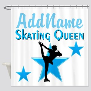 SKATING QUEEN Shower Curtain