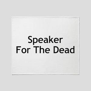 Speaker For The Dead Throw Blanket
