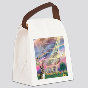 Cloud Angel  Rosty Canvas Lunch Bag