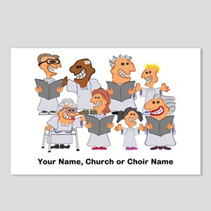 Funny Personalized Church Choir Postcards (Package