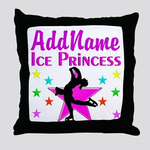 SKATER PRINCESS Throw Pillow