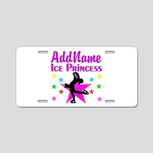 SKATER PRINCESS Aluminum License Plate