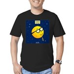 Super Moon Men's Fitted T-Shirt (dark)