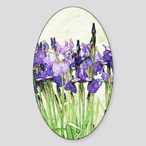 Irises Sticker (Oval)