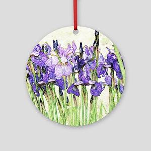 Irises Round Ornament