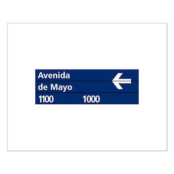 Avenida de Mayo, Buenos Aires (AR) Small Poster