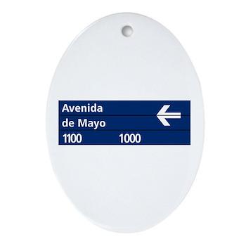 Avenida de Mayo, Buenos Aires (AR) Ornament (Oval