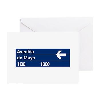 Avenida de Mayo, Buenos Aires (AR) Greeting Cards
