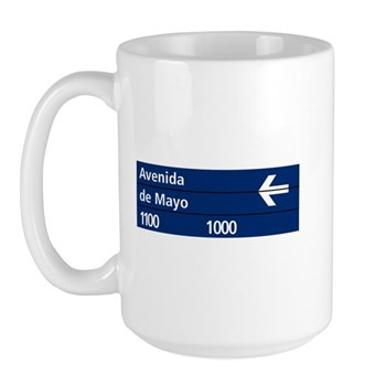 Avenida de Mayo, Buenos Aires (AR) Large Mug