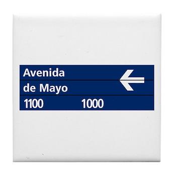 Avenida de Mayo, Buenos Aires (AR) Tile Coaster