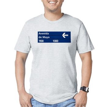 Avenida de Mayo, Buenos Aires (AR) Fitted T-Shirt