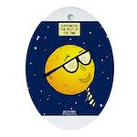 Super Moon Oval Ornament