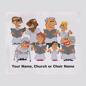 Funny Personalized Church Choir Throw Blanket