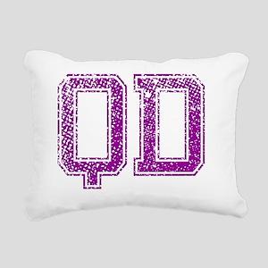 QD, Vintage Rectangular Canvas Pillow