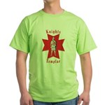 The Knights Templar Green T-Shirt