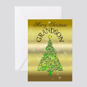 Non denominational gifts cafepress for grandson a gold effect christmas card greetin m4hsunfo