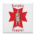The Knights Templar Tile Coaster