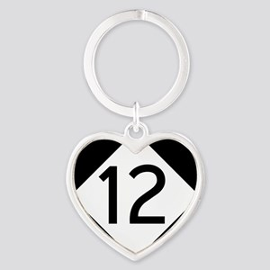Route 12 Road Sign Heart Keychain