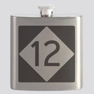 Route 12 Road Sign Flask