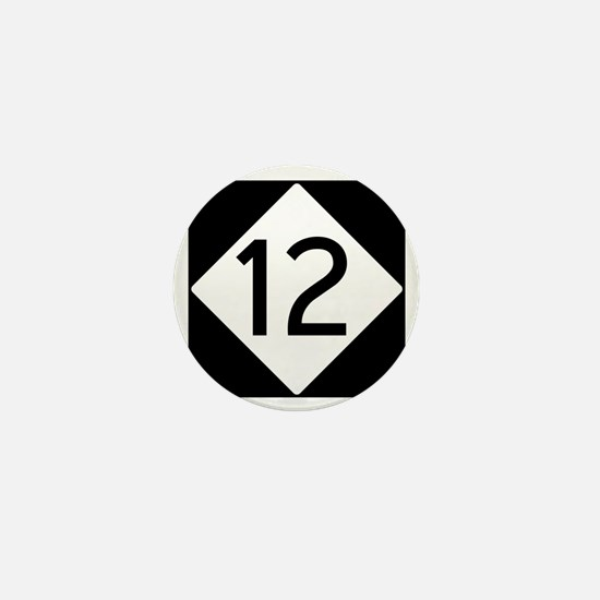 Route 12 Road Sign Mini Button