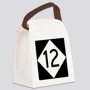 Route 12 Road Sign Canvas Lunch Bag