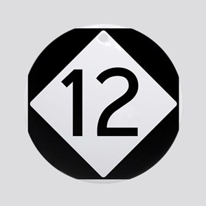 Route 12 Road Sign Round Ornament