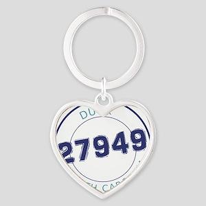 Duck, North Carolina Zip Code Heart Keychain