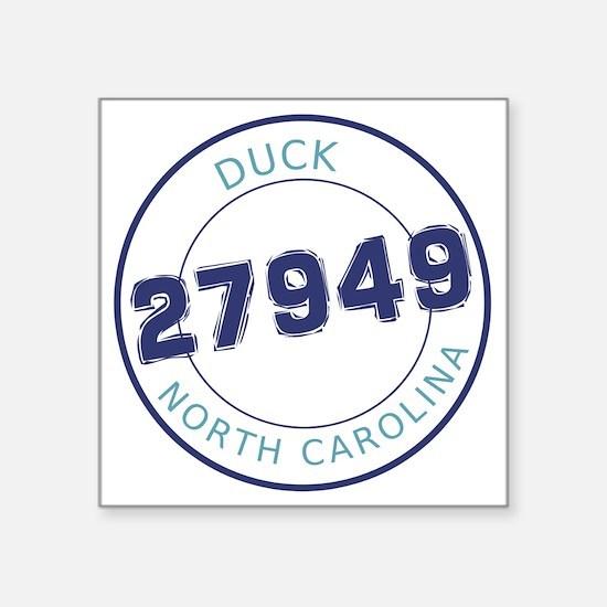 """Duck, North Carolina Zip Co Square Sticker 3"""" x 3"""""""