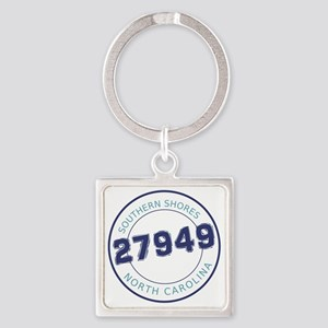 Southern Shores, North Carolina Zi Square Keychain
