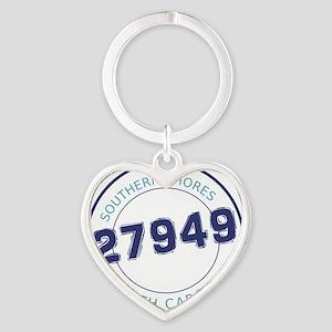 Southern Shores, North Carolina Zip Heart Keychain