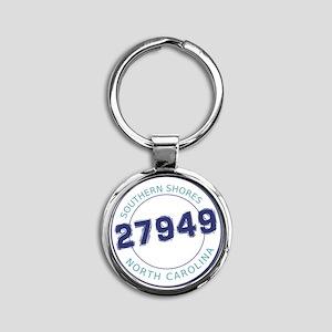 Southern Shores, North Carolina Zip Round Keychain